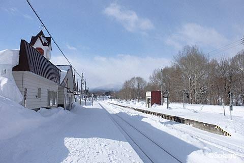白滝駅プラットホーム