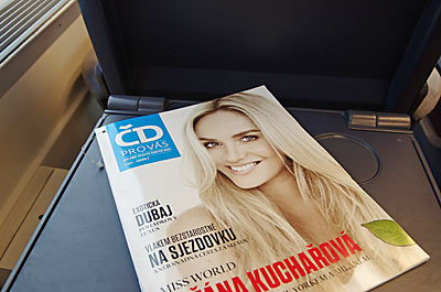 EC客室内にあったチェコ鉄道の車内誌