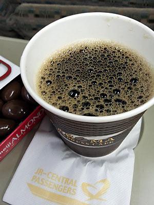 JR東海、特急南紀の車内で買ったホットコーヒー