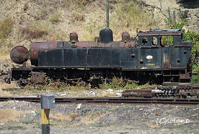 レグア駅、蒸気機関車廃車体