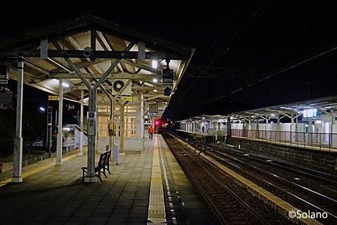 23時過ぎ、浜寺公園駅に降り立つ
