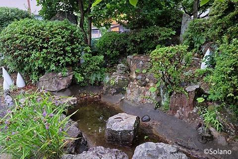 JR佐世保線、有田駅構内の池庭跡