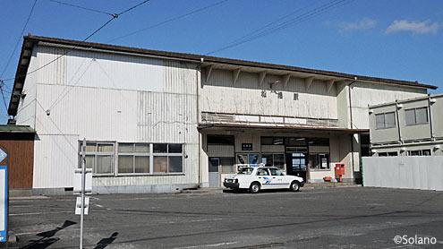 JR九州・鹿児島本線、松橋駅の木造駅舎