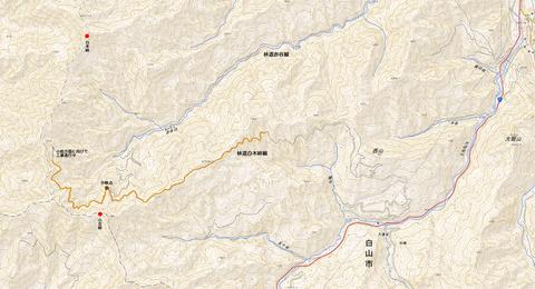 林道赤谷線と白木峠線のつながり1280