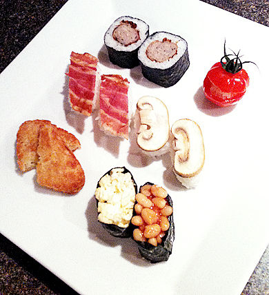 English Breakfast Sushi