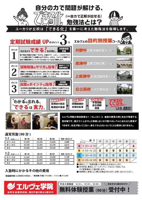 ユーカリ2017 春期募集CD版(ウラ)A4-001