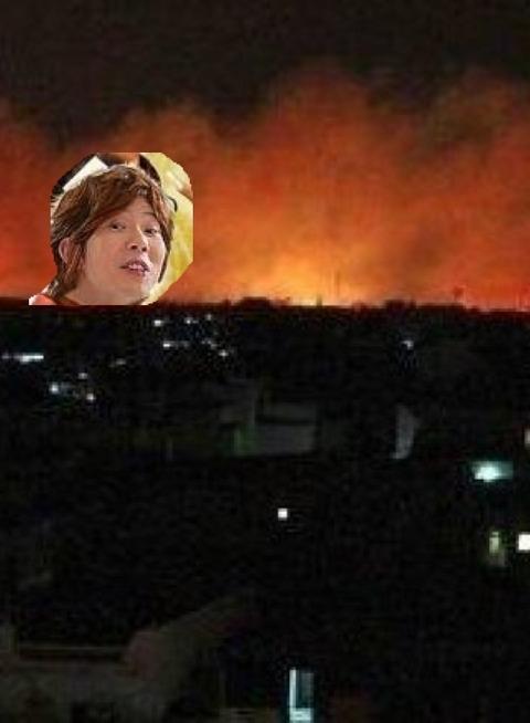 【緊急】川越の火事が凄い_009