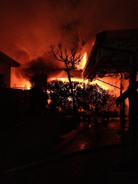 【緊急】川越の火事が凄い_003