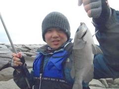 冬の堤防釣り