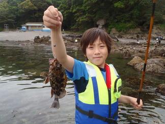 ごろた根魚釣り