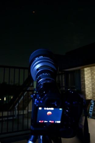 20141008 皆既月食撮影風景2