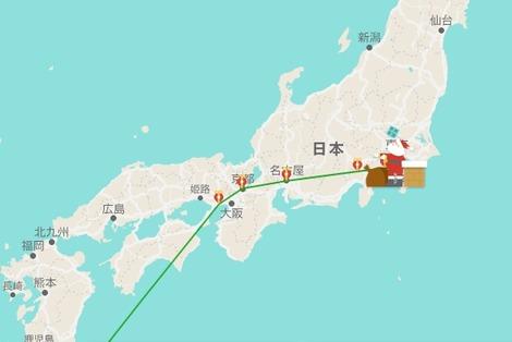 20161224 google santa tokyo