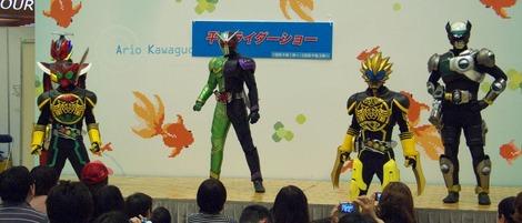 20120429 平成ライダーショー ラストの決めポーズ