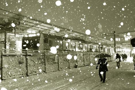 20180122 大雪の駅前2