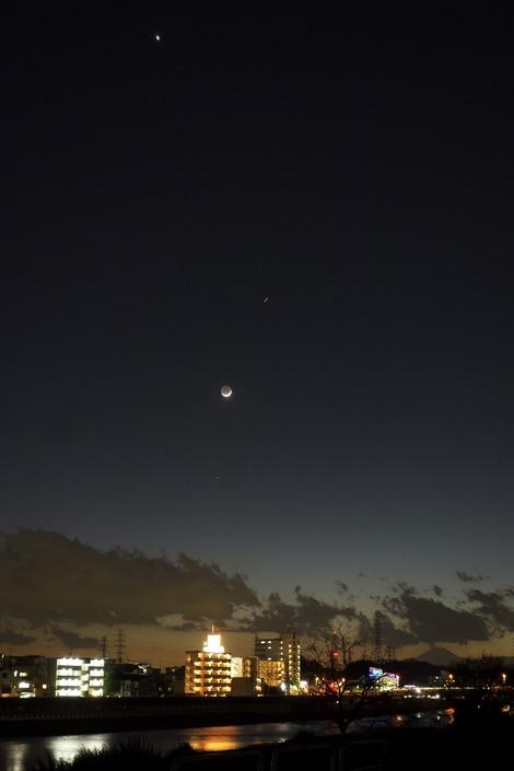 20170130 月と金星とISS2