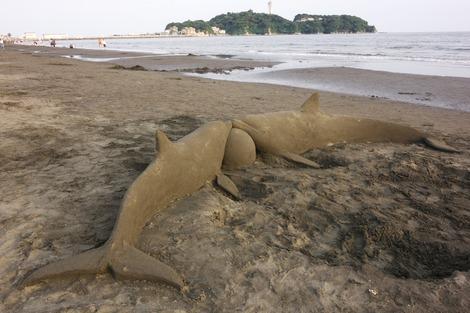 20170617 砂の彫刻〜イルカ
