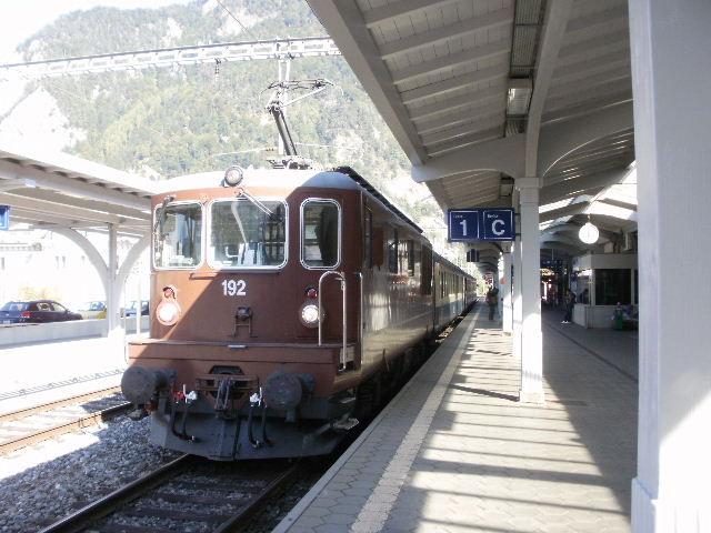 初めてのスイス旅行(111)1駅ずつ...