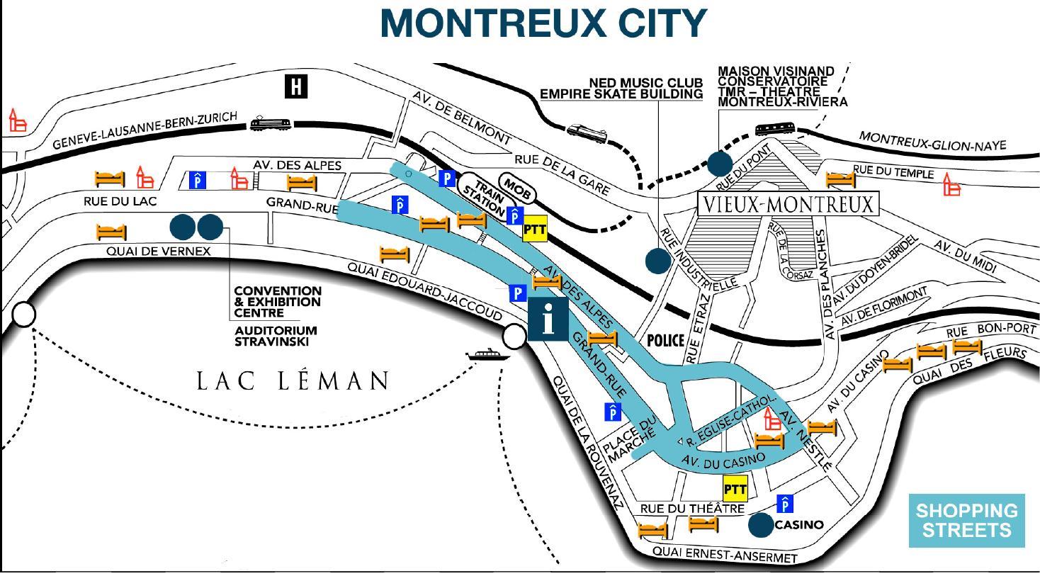 初めてのスイス旅行(127)モントルーの街並み : elle と riki の旅行情報