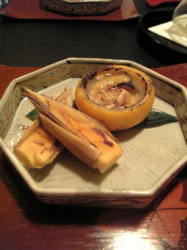 牡蠣と柿と筍