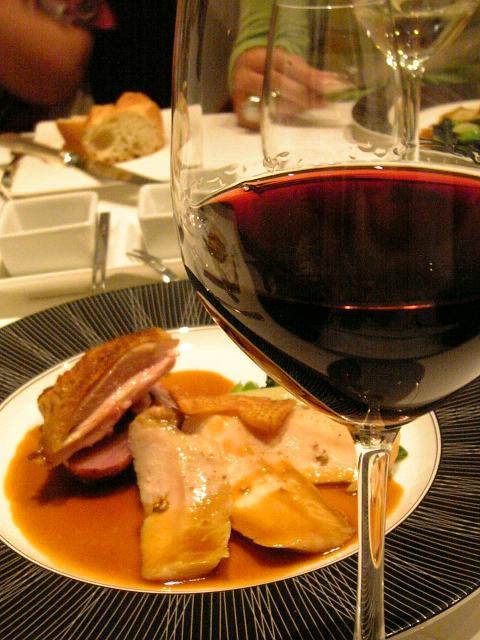 お肉とワイン