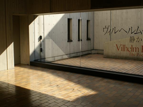 ハンマースホイ展覧会会場入口