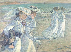 デオフィル・ファン・レイセルベルヘ《散歩》1901年