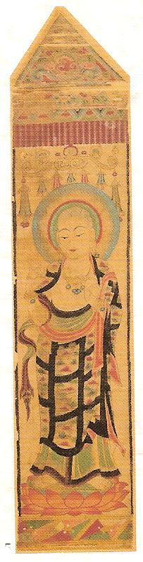 《地蔵菩薩立像》唐・8世紀、中国・甘粛省