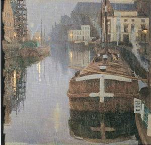 アルベルト・バールツン《ゲントの夜》1903年