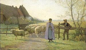 帰りくる羊の群(エタブル)