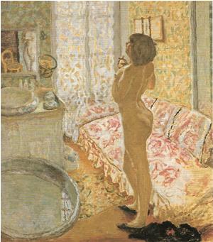 ピエール・ボナール《逆光の中の裸婦》1908年頃
