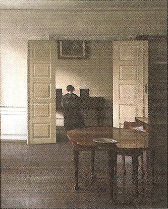 ピアノを弾くイーダのいる室内