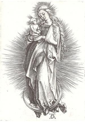 三日月の上の聖母