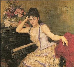 イリヤ・レーピン「ソフィー・メンターの肖像」