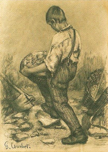 ギュスターブ・クールベ「石割の少年」