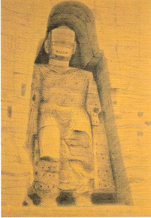 《バーミアン大石仏を偲ぶ》2001年