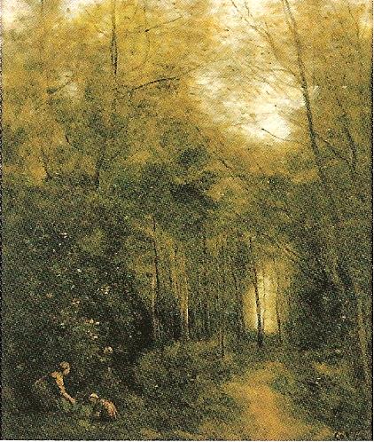 コロー「森の小川」