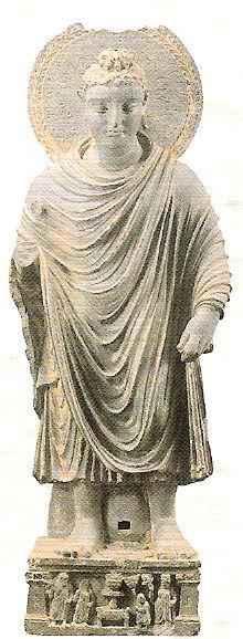 《ブッダ立像》クシャン朝・2-3世紀、パキスタン・スワート出土