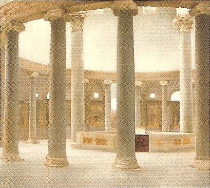 ローマ・サントステファーノ・ロトンド聖堂の内部