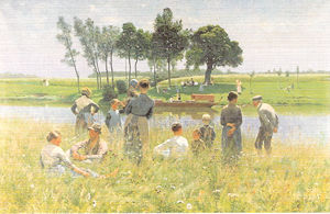 《ピクニック風景》エミール・クラウス