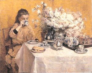 イジドール・ヴェルヘイデン《昼食》1905年頃