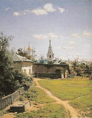 ワシーリー・ボレーノフ「モスクワの中庭」