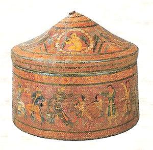 《舎利容器》6-7世紀、中国・クチャ・スバシ出土、大谷探検隊将来