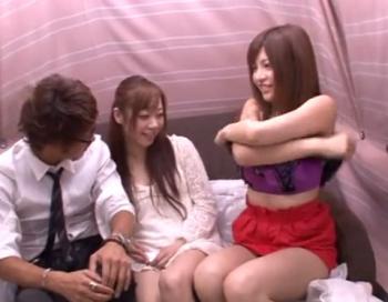 【ナンパ/女子大生/ギャル】美人姉妹をガールハントしてアダルト企画でストリップ