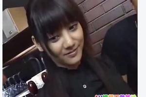 【みづなれい】綺麗な黒髪のスレンダーハーフ美女子大生カフェ店員を口説いて強引にパコパコ激しく生ハメセックス
