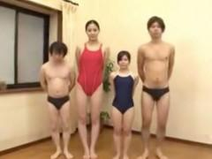 長身美女とミニ美少女が魅せる凸凹4Pファックがおもしろいんだがw内田真由 江川小春