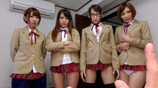 高圧的な生徒会の美少女JKたちは男子たちに中出しを強要するヤリマン集団だった!