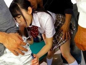 【大島美緒】 集団痴カンの被害にあう女子校生、アソコに媚薬を塗られ犯される