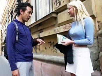 【素人ナンパ企画】「俺と生セックスしてくれませんか?」ロシアに遠征して金髪美女に種付け膣内射精