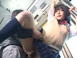 バスで痴漢にハメられ感じちゃう女子校生 早川凛