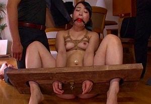 【皆野あい】 美女の手足をがっちし固定してヤリたい放題犯す